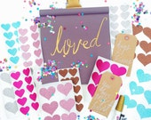 Medium Glitter Heart Seal Stickers, perfect for sending happy mail, planners, scrapbooking, packaging, stationary, decor