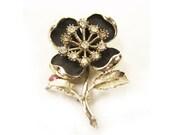 1950s Vintage Flower Brooch