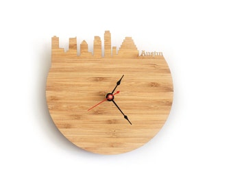 Wall Clock - Austin, Texas Skyline