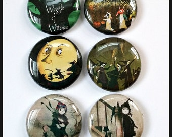 "Little Witches - 1"" Button Choose Your Own"