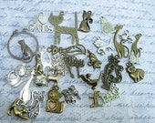 Cat Collection of Charms in various colors - C2195