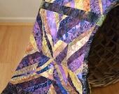 Modern Quilt, Purple Quilt, Wall Quilt, Art Quilt