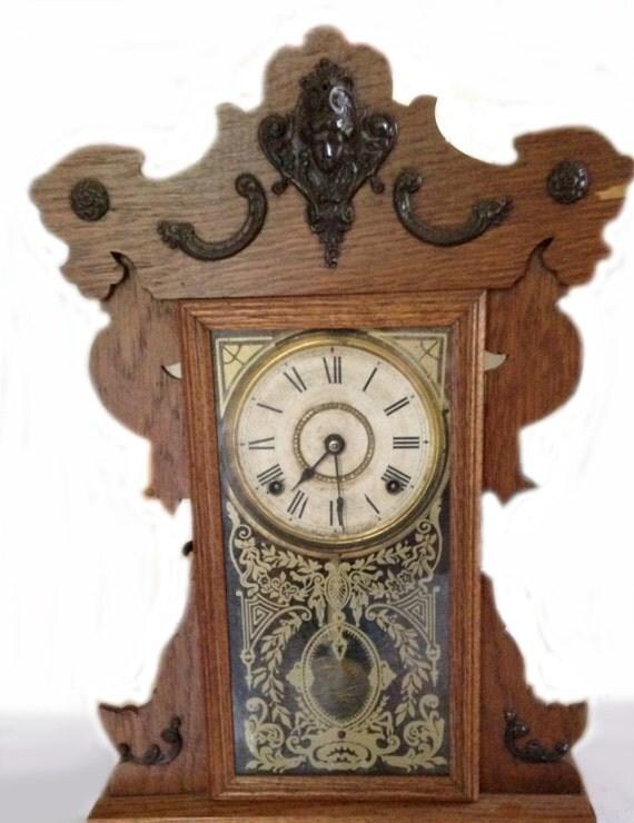 antique 1909 seth thomas pendulum mantel clock by