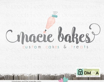baking logo bakery logo premade logo cake logo piping bag logo piping logo premade logo design logos for bakers cake shop baking logo design