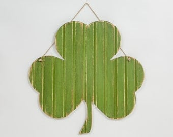 Wooden Shamrock Irish Hanging Decor - St. Patricks Day