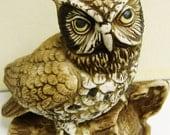 Owl Figurine Porcelain Lifelike HOMCO