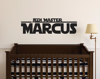 Star Wars Wall Decal - Boys Room Star Wars Decal Name - Jedi Master Name Decal Nursery or Bedroom - Star Wars Decor