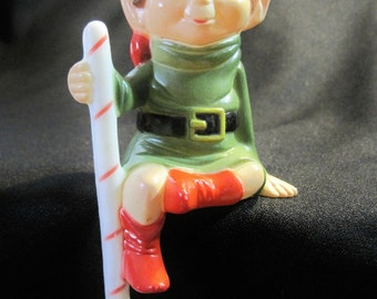 Vintage  Celluloid Elf Ornament/Mantle Sitter