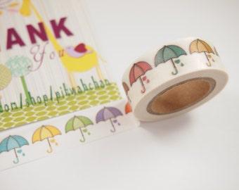 Colorful Umbrella Washi Tape (10M)