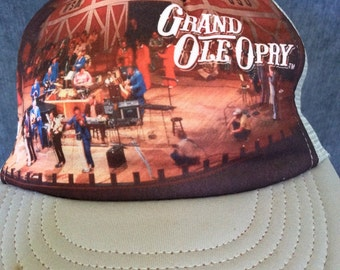 Vintage Grand Ole Opry 1970's Trucker Hat! Retro Nashville Music SnapBack!