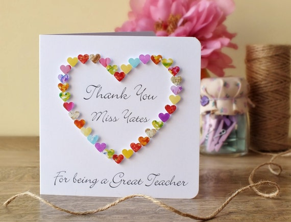 thank you teacher card 'thank you for being a great