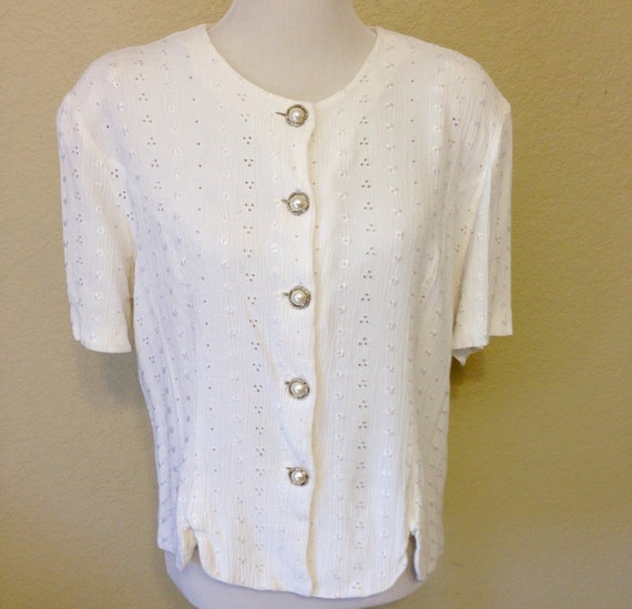 Ladies Eyelet Blouse 109