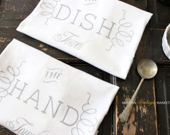 1 Hand Towel, flour sack towels,kitchen towel,hand towel,dish towel,custom towel,tea towel,towels,Modern Vintage Market
