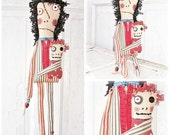 Patriotic Monster Punk Art Dolls by Eerie-Beth