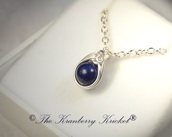 Lapis Lazuli Gemstone Necklace, Egyptian Gemstone Necklace