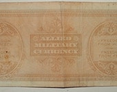 WWII Money- Italy Allied Military Currency-Bank note-WWII era paper money-Government issue fifty Lire bank note-mid century paper money