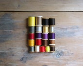 Vintage Thread Collection Lot of Twenty One, 21 Spools of Thread