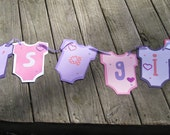 Onesie Baby Shower Banner. YOU PICK The Colors & Decorations. Boy Or Girl. Custom Orders Welcome.