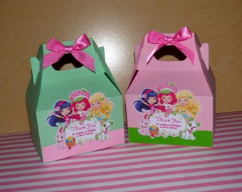 Strawberry Shortcake Favor Box- Strawberry Shortcake Birthday - Favor Bag