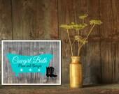Cowgirl bath art print, bathroom wall decor, printable bathroom art, instant download, bathroom print