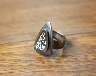 Modernist Ring / Sterling Otto Robert Bade Jewelry / Mid Century Adjustable Ring