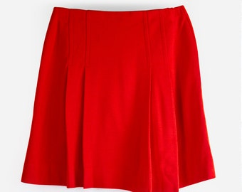 Ruby In Red Vintage 1970's High Waisted Mini Skirt