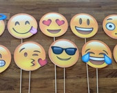 Photo Props: The Emoji Set (10 Pieces) - party wedding birthday decoration instagram social media iPhone app icon stick centerpiece