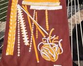 Vintage 1970s Set-of-Two Modern Italian Pasta-Themed Tea Towels