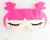 Sweet Dreamer Sleep Mask Embroidery Design, kawaii sleep mask, machine embroidery, ITH mask, in the hoop mask, embroidery sleep, 5x7, 6x10