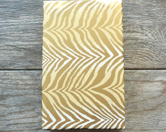 Gold Zebra Wrapping Paper, 20 Square Feet - Gold Wrapping Paper - Feminine Gift Wrap - Birthday Wrapping Paper - Animal Print - Safari Print