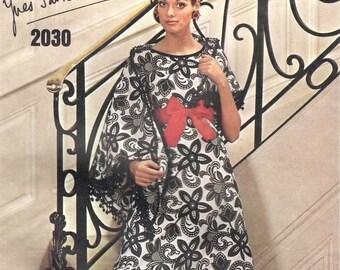 Yves Saint Laurent evening dress & stole pattern -- Vogue Paris Original 2030