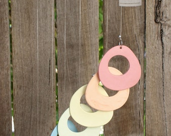 Windchimes in colorful porcelain