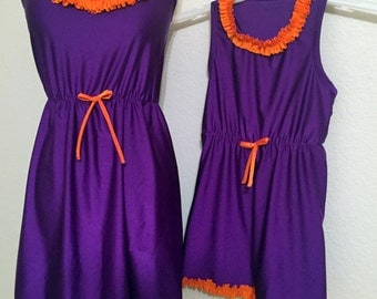 Game Day Mommy & Me Sporty Racerback Dresses