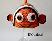 Crochet Clown Fish hat (All size available)