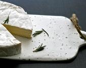 White cheese board, handmade, minimal kitchen, birthday gift, registry, wholesale. Whistler by Golem
