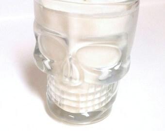 Skull Mug Candle - 16 oz Glass Mug - CHOICE OF SCENT