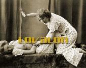 MATURE... Erotic Pajama Party... Instant Digital Download... Vintage Erotic Photography... Vintage Nude Photo