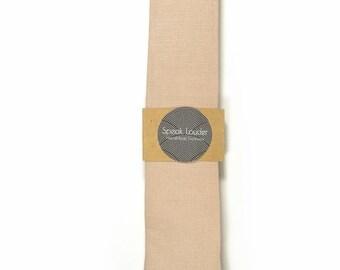 Blush linen tie - Wedding Mens Tie Skinny Necktie - Laid-Back necktie