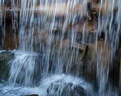 "Nature Photography, ""Waterfall and Moss"", Phoenix Photography, Customizable Prints, Home Decor"