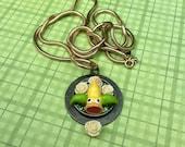 Beautiful Weepinbell Pokemon Necklace
