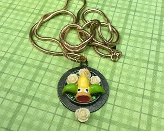 OOAK Beautiful Weepinbell Pokemon Necklace