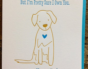 Fathers Day card from Dog - Funny Fathers Day card - Fur Baby card DeLuce Design