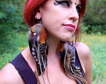 UNTAMED Long Feather Earrings
