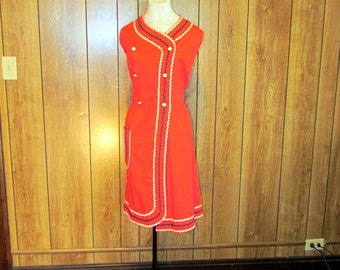 On Sale- Adorable KITSCH 1940's/50's Cotton RICK RAC Day Dress