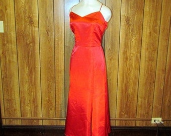 Formal  RED Satin FISHTAIL GOWN