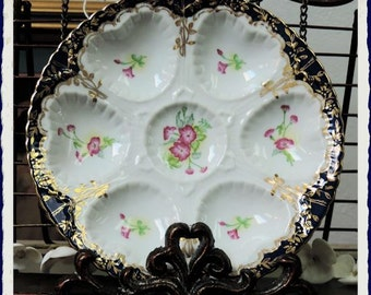 Petite Pink Fleur Oyster Plate