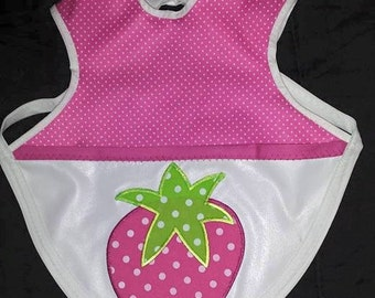 Bapron - (Baby Apron) made of PUL fabric with pocket/crumb-catcher