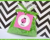 Pink Ladybug Favor Tags - Pink Ladybug Thank You Tags - Pink Ladybug Gift Tags - Pink Ladybug Birthday Tags - Digital and Printed Available