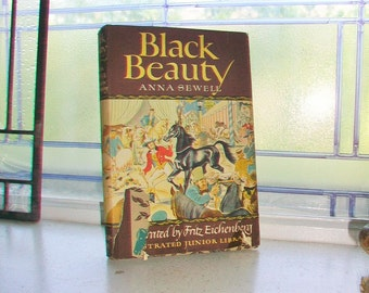 Black Beauty Anna Sewell Vintage 1945 Book Hardcover with Dust Jacket