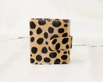 Bitty Dotted Cowhide Leather Wallet